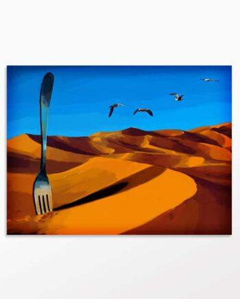 Tableau désert La faim