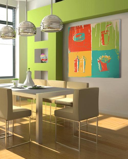Tableau Burger Pop Art Deco Murale Cuisine Labaleinegraphique Com
