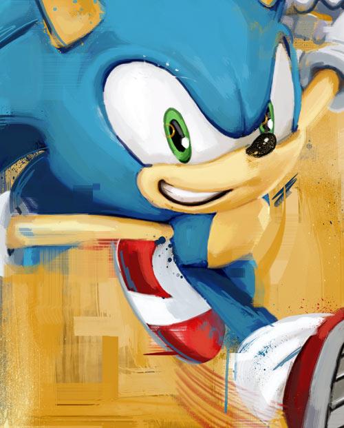 Déco jeu vidéo Sonic