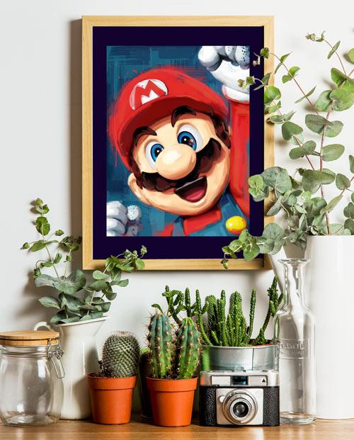 Tableau Mario Bros pour une décoration geek dans votre salon