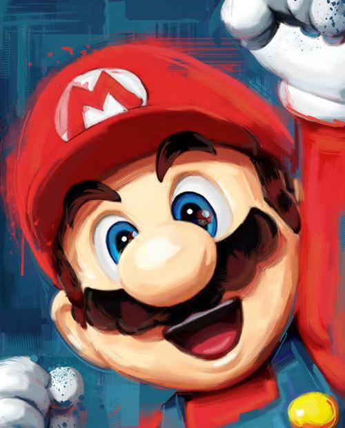 Tableau Mario Bros pour une décoration geek artistique