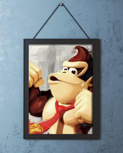 Tableau gaming Donkey Kong pour la déco de chambre d'ado