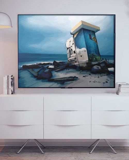 Tableau Urbex Aquatique pour une décoration street art originale dans votre salon !