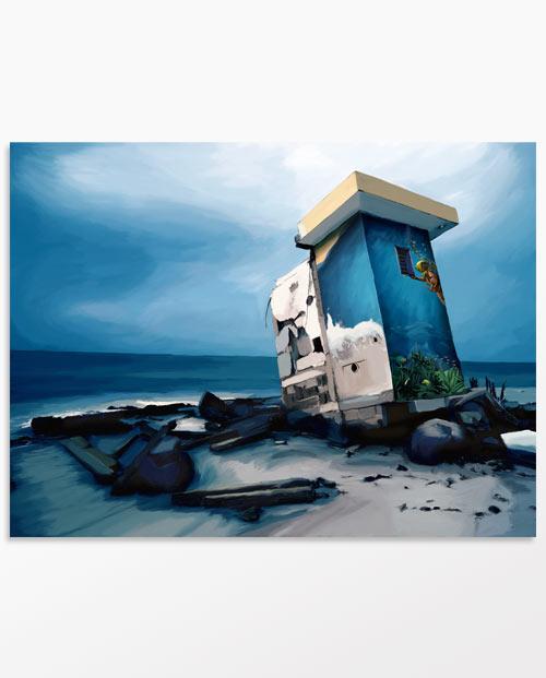 Tableau Urbex Aquatique pour une décoration street art originale