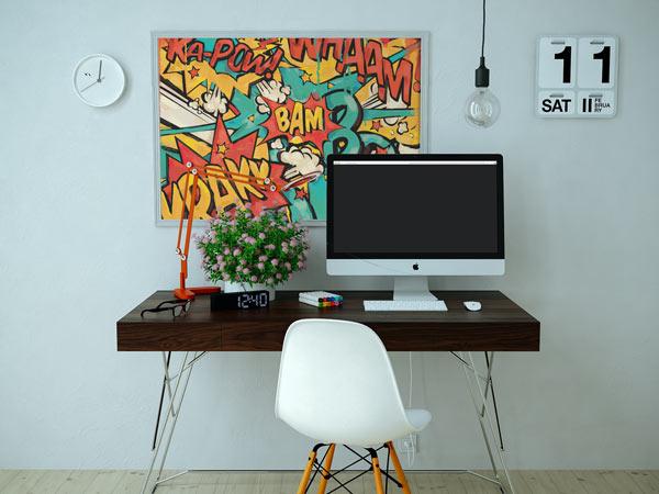 Déco de bureau : tableau mural original