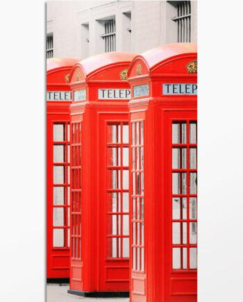 Cabines téléphoniques à Londres