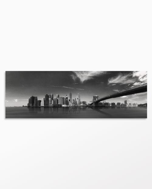 Affiche New York panoramique en noir et blanc - Décoration design