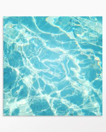 Tableau abstrait reflets d'eau