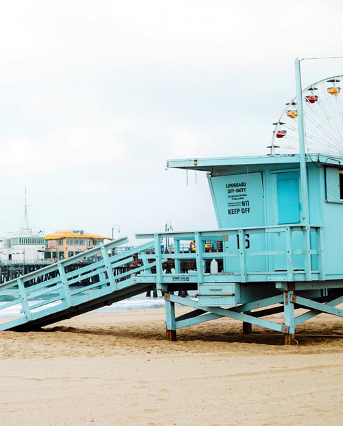 Tableau California Beach - visuel lifeguard tower