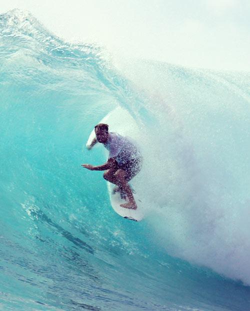Tableau California Beach - visuel surfer