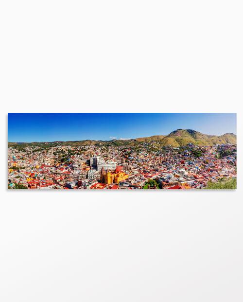 Tableau Mexique Guanajuato en panoramique - Décoration mexicaine