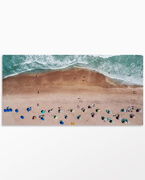 Tableau parasols et océan - Photo vue du ciel - Déco abstraite