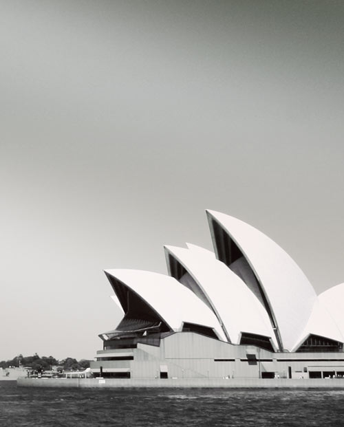 Zoom de la photo panoramique de Sydney