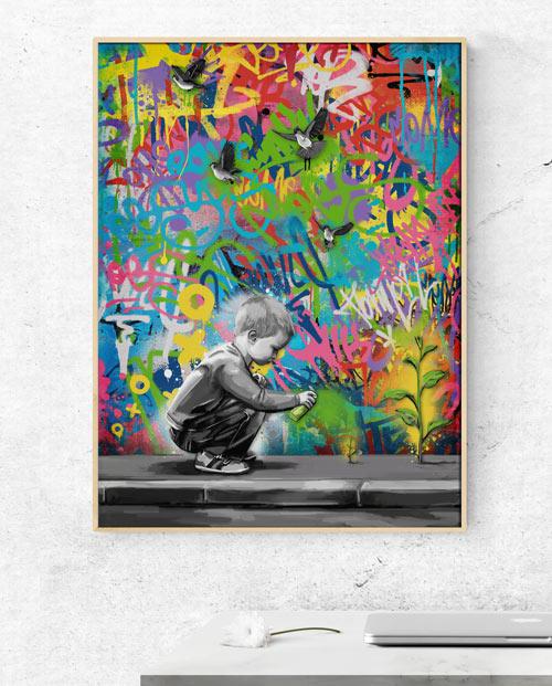 Tableau coloré design pour une décoration murale street art