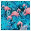 Flamingo & Blues - Tableau jungle exotique