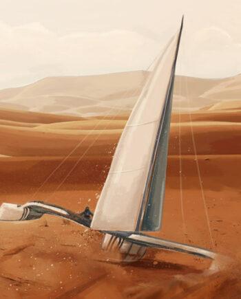 Tableau futuriste Vent de sable