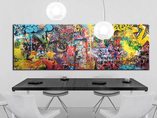 Tableau tags et graffitis pour la decoration murale